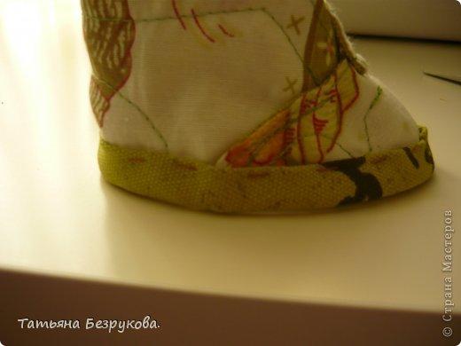 Мастер-класс Шитьё: МК. Ботинки для куклы.  Ткань. Фото 24