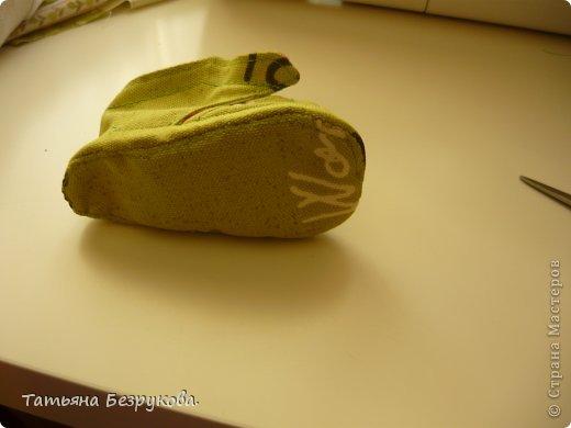 Мастер-класс Шитьё: МК. Ботинки для куклы.  Ткань. Фото 30