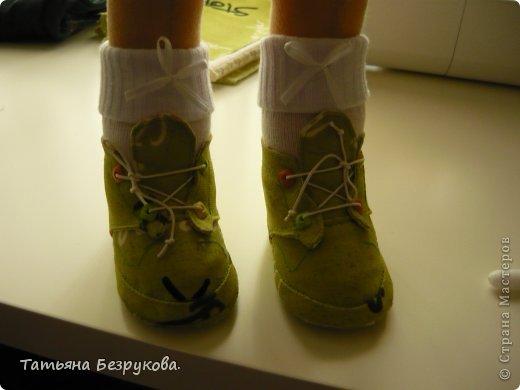Мастер-класс Шитьё: МК. Ботинки для куклы.  Ткань. Фото 33