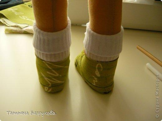 Мастер-класс Шитьё: МК. Ботинки для куклы.  Ткань. Фото 34