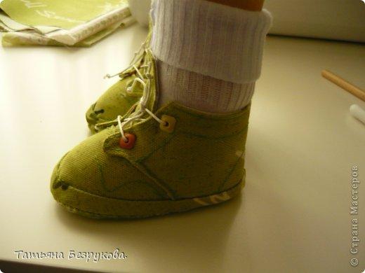 Мастер-класс Шитьё: МК. Ботинки для куклы.  Ткань. Фото 35