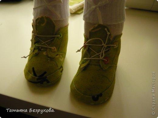 Мастер-класс Шитьё: МК. Ботинки для куклы.  Ткань. Фото 36