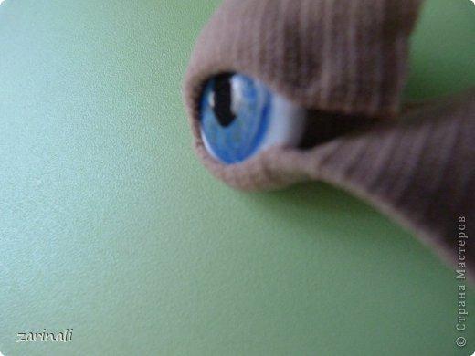Мастер-класс Шитьё:  МАстер - класс как сделать радужку для глазок кукле. Моё ноу -хау Капрон. Фото 10