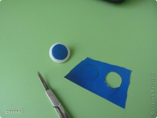 Мастер-класс Шитьё:  МАстер - класс как сделать радужку для глазок кукле. Моё ноу -хау Капрон. Фото 7