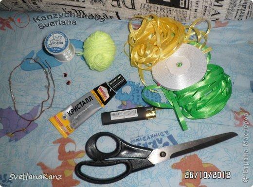 Мастер-класс Цумами Канзаши: МК Змейки моя личная идея Ленты Новый год. Фото 2
