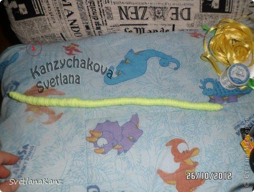 Мастер-класс Цумами Канзаши: МК Змейки моя личная идея Ленты Новый год. Фото 4