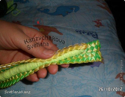 Мастер-класс Цумами Канзаши: МК Змейки моя личная идея Ленты Новый год. Фото 7