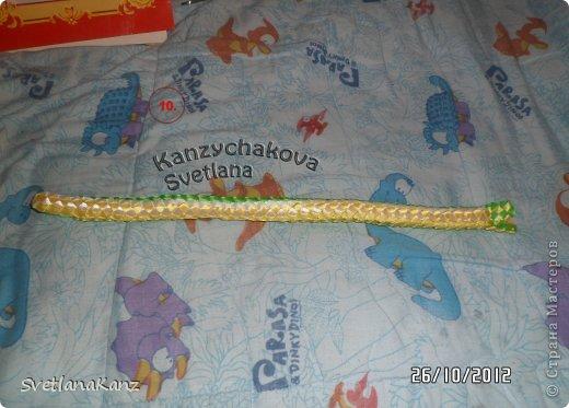 Мастер-класс Цумами Канзаши: МК Змейки моя личная идея Ленты Новый год. Фото 8