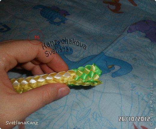 Мастер-класс Цумами Канзаши: МК Змейки моя личная идея Ленты Новый год. Фото 9