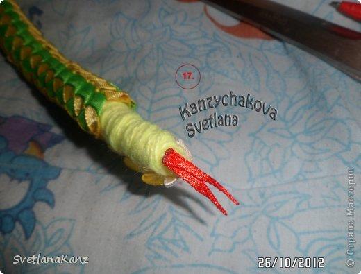 Мастер-класс Плетение: МК Змейки. Автор Я-Светлана Канзычакова. Ленты Новый год. Фото 12