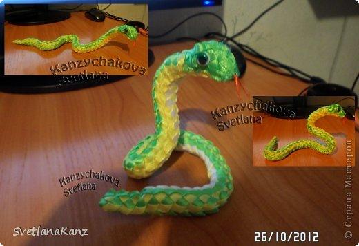 Мастер-класс Цумами Канзаши: МК Змейки моя личная идея Ленты Новый год. Фото 18