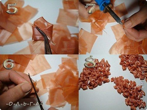 Мастер-класс Цумами Канзаши: МК сборки цветка. Канзаши.  Клей, Ткань. Фото 3