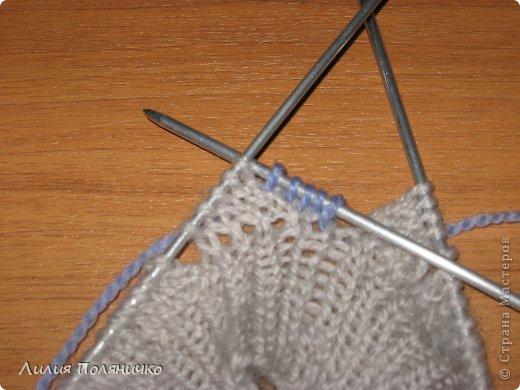 Гардероб, Мастер-класс, Презент от Голубки Вязание спицами: Комплект в технике энтерлак Пряжа. Фото 12