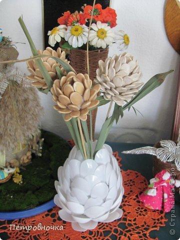 Сделать поделку из природного материала цветы