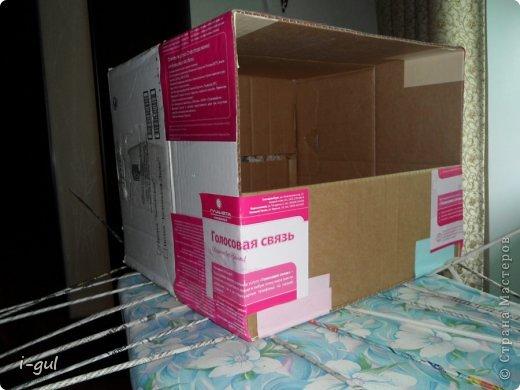 Мастер-класс Плетение: Домик для кошки Бумага газетная, Коробки, Ткань. Фото 2