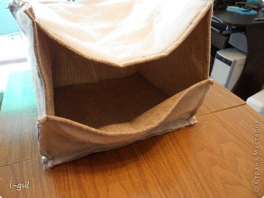 Мастер-класс Плетение: Домик для кошки Бумага газетная, Коробки, Ткань. Фото 8