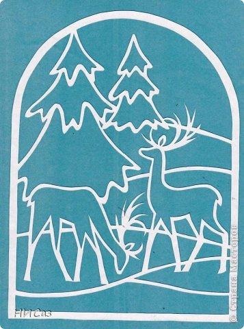 Картина, панно, рисунок Вырезание, Вытынанка: К Новому году... Бумага Новый год. Фото 3