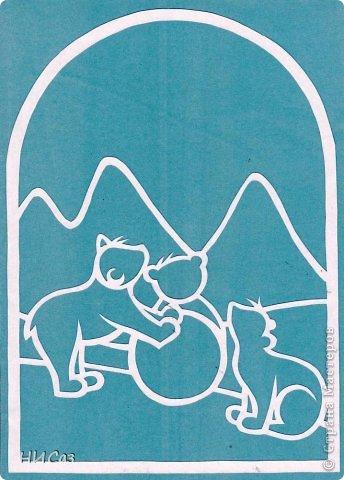 Картина, панно, рисунок Вырезание, Вытынанка: К Новому году... Бумага Новый год. Фото 2