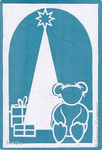 Картина, панно, рисунок Вырезание, Вытынанка: К Новому году... Бумага Новый год. Фото 1