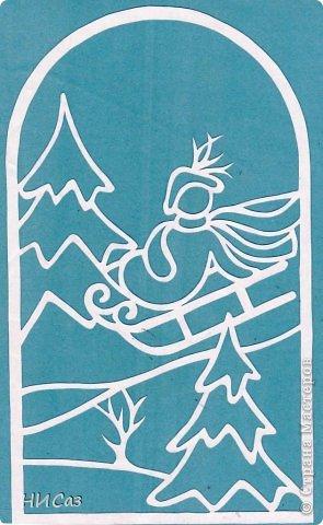 Картина, панно, рисунок Вырезание, Вытынанка: К Новому году... Бумага Новый год. Фото 5