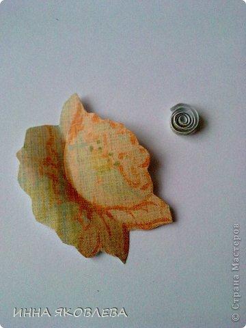 Мастер-класс, Открытка Аппликация, Бумагопластика: Обойная бумагопластика. Открытка. Бумага. Фото 7