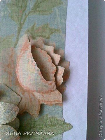 Мастер-класс, Открытка Аппликация, Бумагопластика: Обойная бумагопластика. Открытка. Бумага. Фото 10
