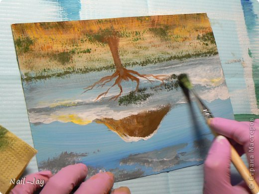 Картина, панно, рисунок, Мастер-класс Рисование и живопись: Ещё картинки в правополушарной технике + МК для  Гуашь. Фото 14