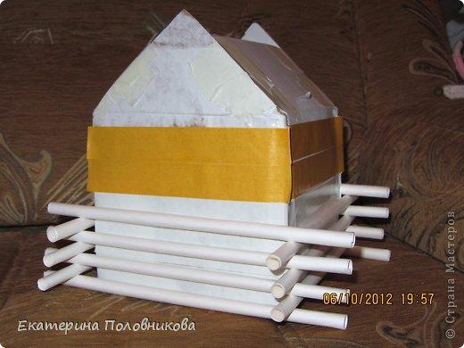 Как сделать дом из ватных палочек