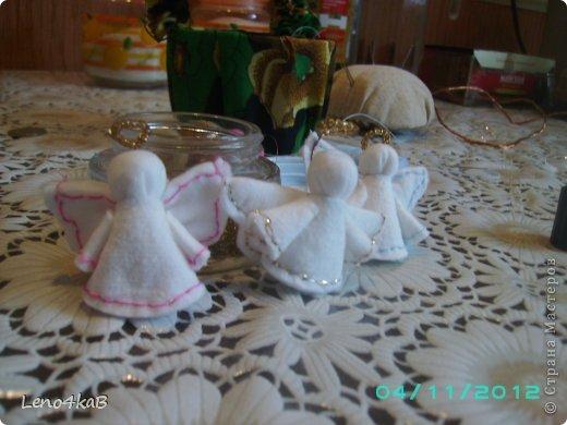 Мастер-класс Моделирование: Ангелы (МК) Бисер, Диски ватные, Клей, Проволока Новый год. Фото 1