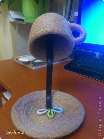 Декор предметов Моделирование: Моя чашка перевертыш))) Как я ее делала Кофе, Шпагат. Фото 5