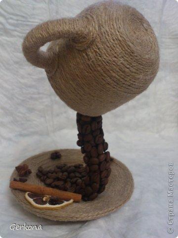 Декор предметов Моделирование: Моя чашка перевертыш))) Как я ее делала Кофе, Шпагат. Фото 11