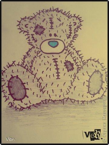 нарисовать мишку тедди.