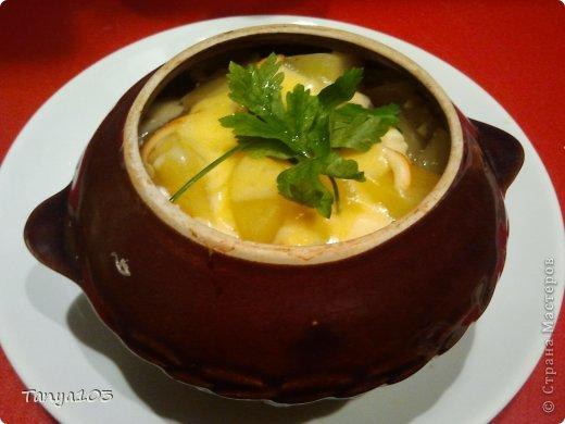 Кулинария, Мастер-класс Рецепт кулинарный: Очень вкусная курочка в горшочке с грибами и картофелем Продукты пищевые. Фото 1