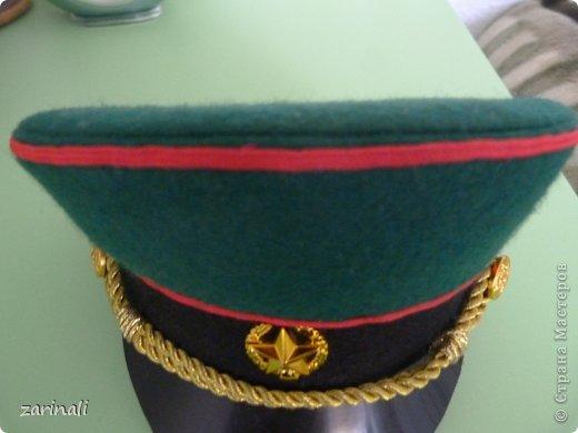 Мастер-класс Шитьё: Фуражка военного для куклы. Фото 33
