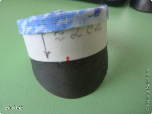 Мастер-класс Шитьё: Фуражка военного для куклы. Фото 10