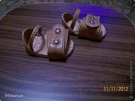 Куклы, Мастер-класс: МК по быстрому изготовлению сандалий для куклы. Кожа. Фото 1