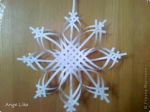 Мастер-класс: Объемная воздушная снежинка Бумага Новый год. Фото 1