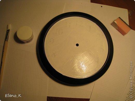 Декор предметов, Мастер-класс Декупаж: часы настенные МК Клей, Кофе, Краска. Фото 2