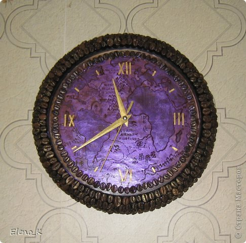 Декор предметов, Мастер-класс Декупаж: часы настенные МК Клей, Кофе, Краска. Фото 14