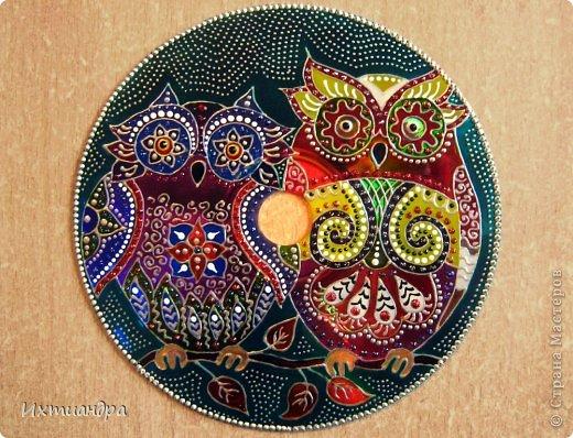 Картина, панно, рисунок Роспись: Диковинные птицы Диски компьютерные, Краска. Фото 19