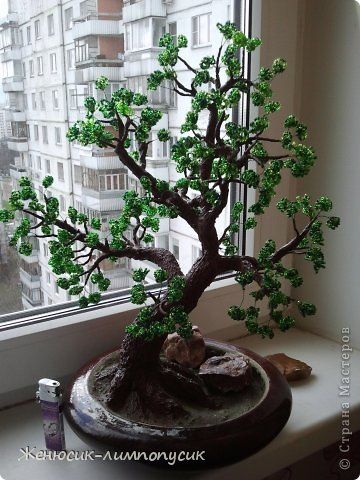 Бонсай, топиарий, Мастер-класс Бисероплетение: Дерево из бисера. Бонсай  Мастер класс Бисер. Фото 1
