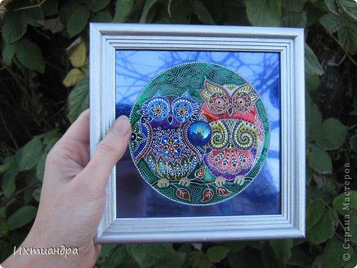 Картина, панно, рисунок Роспись: Диковинные птицы Диски компьютерные, Краска. Фото 22