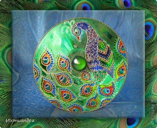 Картина, панно, рисунок Роспись: Диковинные птицы Диски компьютерные, Краска. Фото 2