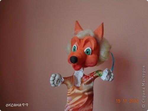 Игрушка, Куклы, Мастер-класс Шитьё: МАСТЕР КЛАСС Перчаточные куклы для кукольного театра.  2 часть.  Вата, Гуашь, Капрон, Клей, Кружево, Ткань. Фото 1
