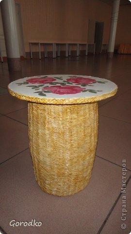 Поделка, изделие Плетение: Создание кофейного столика. МК Бумага газетная Дебют. Фото 1