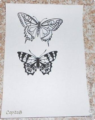 Декор предметов, Мастер-класс Орнамент: Бабочки на холодильнике Бумага, Клеёнка. Фото 5