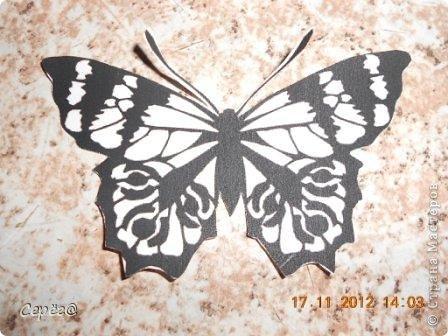 Декор предметов, Мастер-класс Орнамент: Бабочки на холодильнике Бумага, Клеёнка. Фото 6
