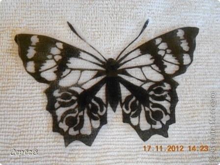 Декор предметов, Мастер-класс Орнамент: Бабочки на холодильнике Бумага, Клеёнка. Фото 11