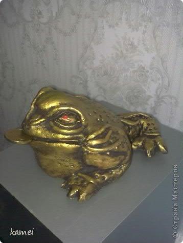 Скульптура Лепка: трехлапые денежные жабы феншуй  Краска, Тесто соленое. Фото 6