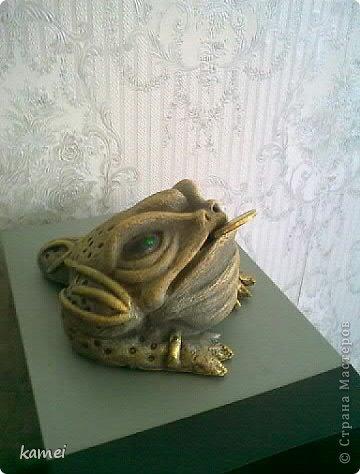 Скульптура Лепка: трехлапые денежные жабы феншуй  Краска, Тесто соленое. Фото 2
